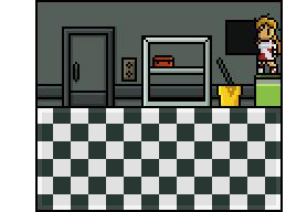 Use screwdriver on closet vent